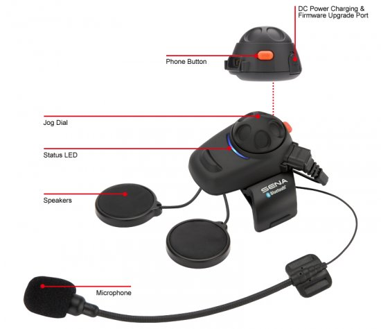 Sena SMH5 Motorrad Bluetooth-Kommunikation System Single Pack